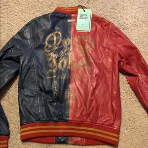 DC Suicide Squad Harley Quinn leather jacket XS